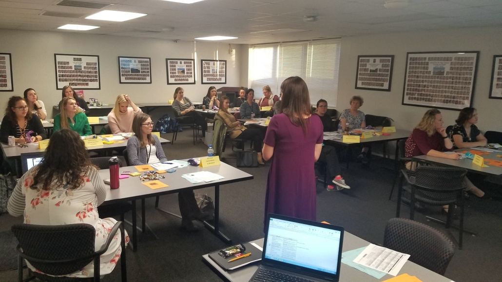New teachers attending the New Teacher Seminar Series.