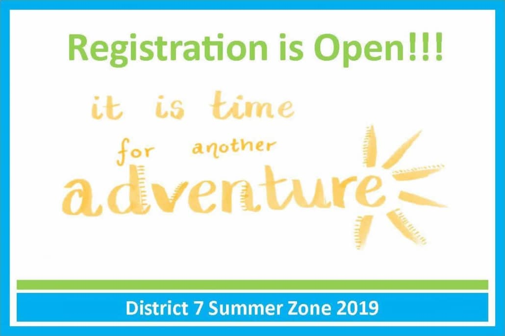 We are still accepting registration for Summer Zone 2019
