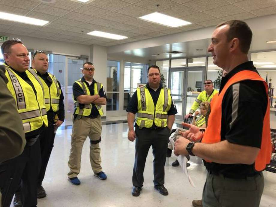 District 7 employees take part in active intruder training