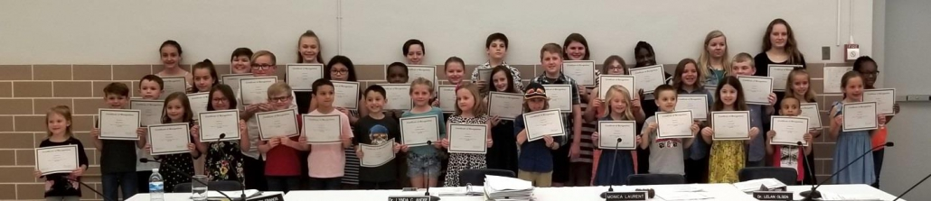 "The Board of Education and administration recognize students for ""doing the right thing."""
