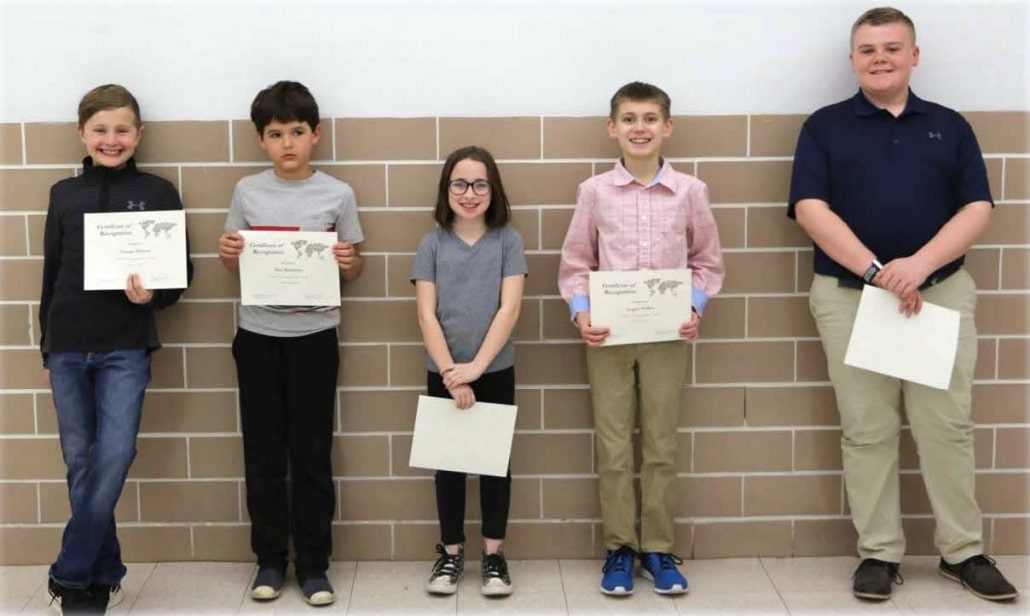 District 7 Geography Bee Winners Recognized for Achievement