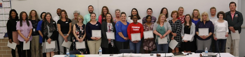 The Board of Education and administration recognize employees for their outstanding efforts