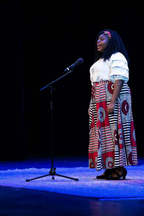 Scottlynn Ballard from Edwardsville High School placed second in the National Poetry Out Loud competition in Washington, D.C. Wednesday evening. Ballard, who entered the competition with 275,000 other high school students across the country, won a $10,000 prize for her second-place finish.