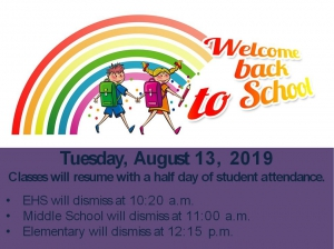 Welcome Back to the 2019-2020 School year - Edwardsville Community